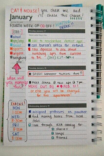 Best student planners to help get you organized this year for Color coding planner