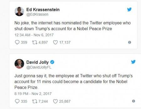 Ex-Twitter worker claims responsibility for Trump's account shutdown
