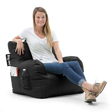 Big Joe Dorm Chair, Limo Black