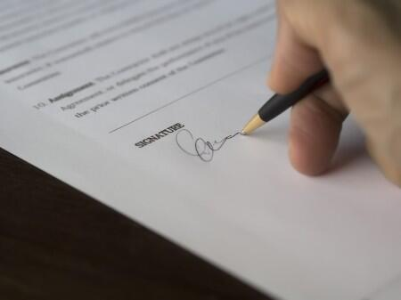 signature, contract, pen, sign, paper