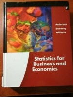 Statistics for Business and Economics / Edition 11 (Authors: Thomas A. Williams, Jeffrey D. Camm, James J. Cochran)