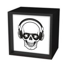 Skull with Headphones Light Box