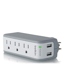 Belkin Mini Surge Protector with USB Charger - 1 AMP (Retail Package)