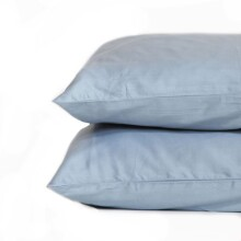 Deluxe Pillow Case Set, 300 Thread Count, 100% Cotton Sateen - Ashley Blue