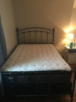 Full size mattress & iron bed frame