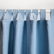 Microsuede Single Curtain - Light Blue